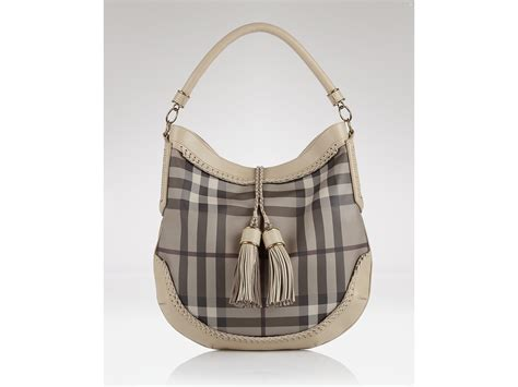 Burberry Trench Hobo Bag by Hobo Burberry Smoked Check Woven Leather Small Parade In