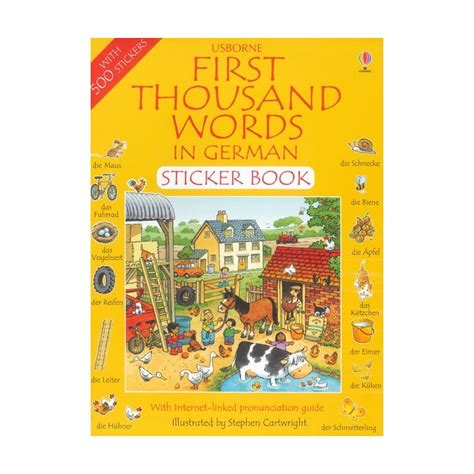 libro first thousand words in first thousand words in german sticker book english wooks