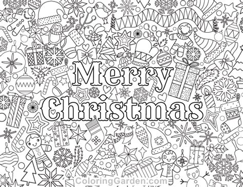 coloring pages of merry christmas merry christmas adult coloring page