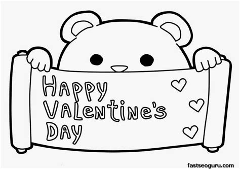 Happy Valentines Day Coloring Pages happy valentines day coloring pages
