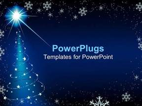 Snowflake Powerpoint Template by Powerpoint Template Blue Background With Snowflakes And