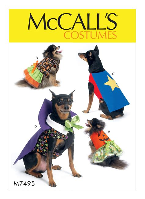 pattern review for mccall s 6564 mccall s 7495 pumpkin hero vire and dress pet costumes