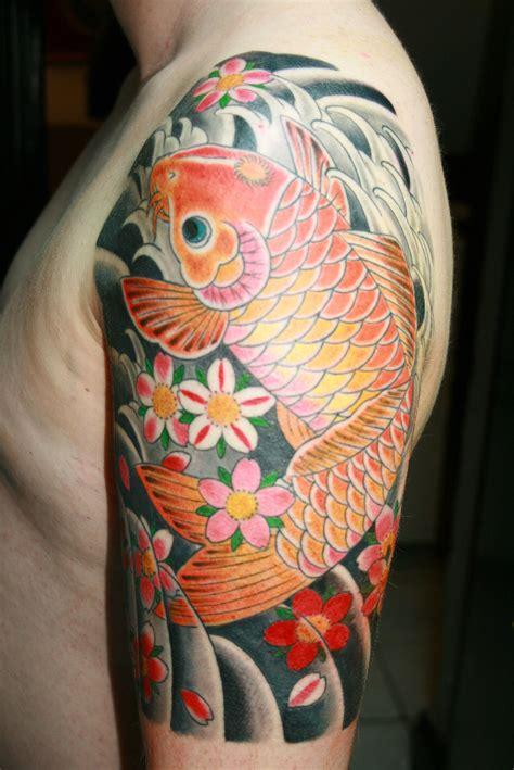 koi sleeve tattoo designs koi half sleeve pictures search left arm