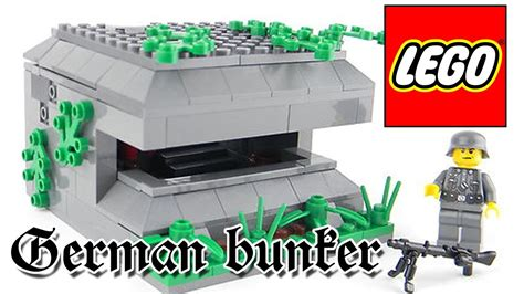 lego war tutorial lego wwii bunker instructions tutorial diy youtube
