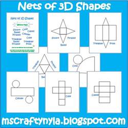 Geometry Net Templates by Nyla S Crafty Teaching Free 3d Shape Nets