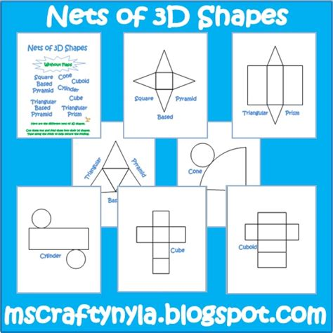 How To Make 3d Geometric Shapes Out Of Paper - nyla s crafty teaching free 3d shape nets