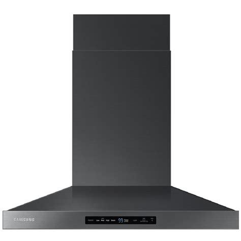 Cooktop Exhaust Fans Shop Samsung Ducted Wall Mounted Range Hood Black