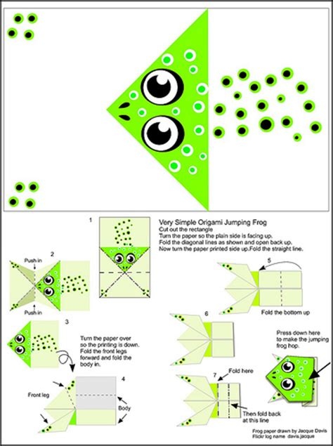 origami jumping frog instructions and paper flickr