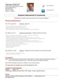 cv assistant administratif et commercial cv assistant