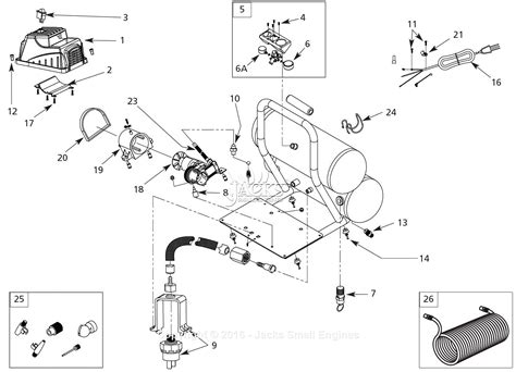 cbell hausfeld fp209699db parts diagram for air compressor parts