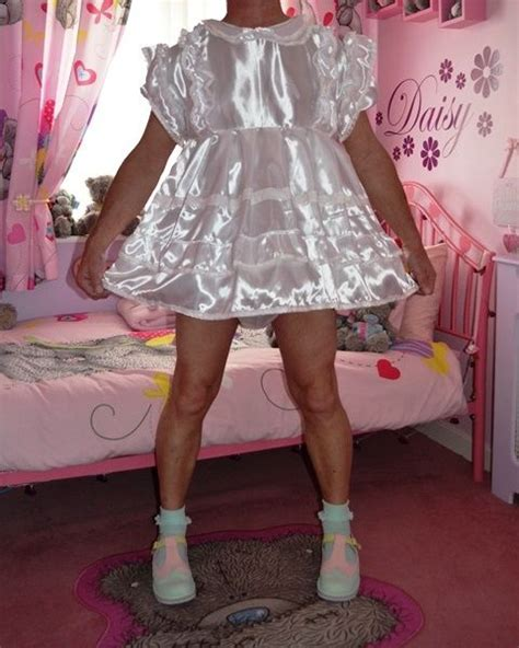 sissy frilly party dress adult baby sissy style satin frilly dress set from nanny