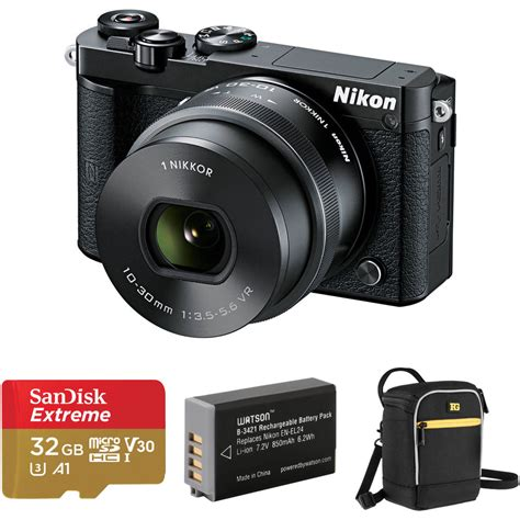 nikon 1 j5 mirrorless digital with 10 30mm lens and b h