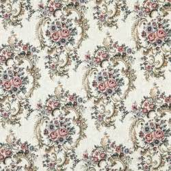 burgundy green and blue floral tapestry upholstery fabric
