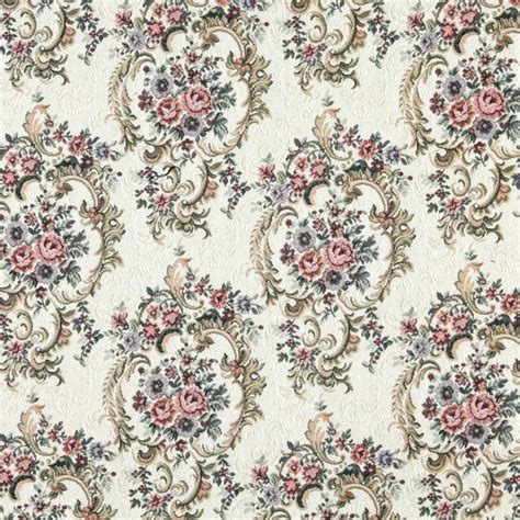 Upholstery Fabric Floral burgundy green and blue floral tapestry upholstery fabric by the yard traditional upholstery