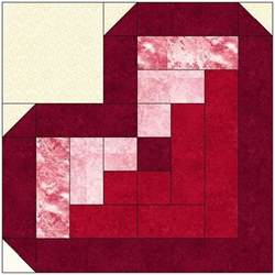 log cabin quilt block pattern by feverishquilter