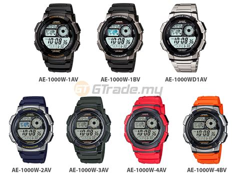 Casio Original Standard Ae 1000w casio digital ae 1000w 1000wd series 10 years