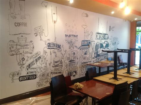 design wall cafe printed graphics wall murals mesh and vinyl banners