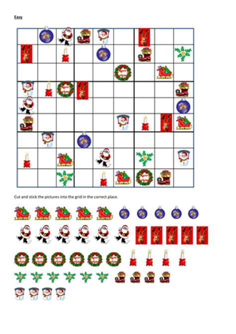 printable holiday sudoku christmas sudoku by tesspecialneeds teaching resources tes