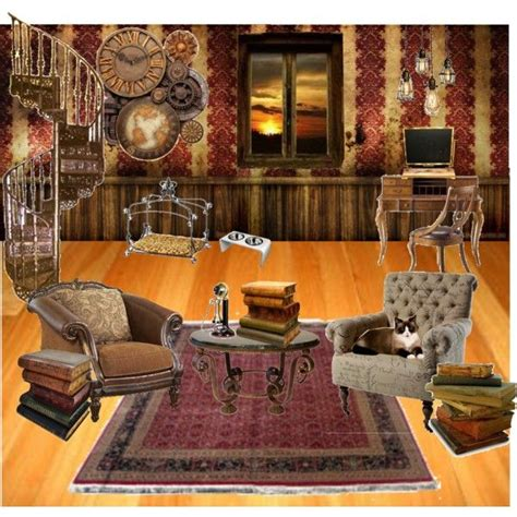 punk home decor quot steunk living room quot by thedarkmuffin on polyvore