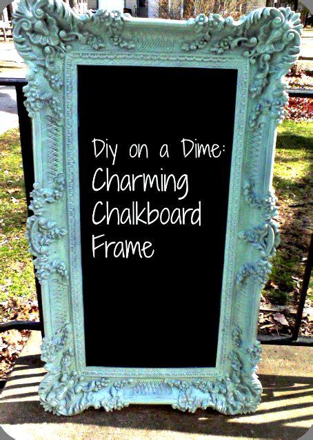 diy chalk paint picture frame diy framed chalkboard panther tracks