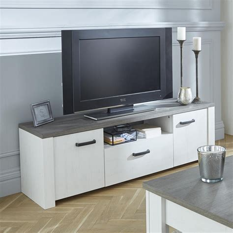 meubles tv meuble tv 2 portes ouvrantes et 1 tiroir marquis dya shopping fr