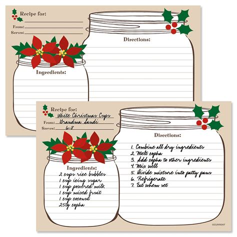 jar recipes recipe card template jar recipe cards current catalog