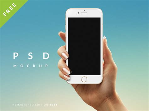 Hand Holding iPhone 6 Mockup PSD Freebie Download
