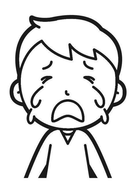 imagenes de la tristeza para colorear dibujo para colorear llorar img 30248