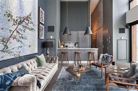 Interior design: luxury apartments in bohemian district of