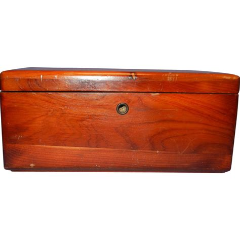 Vintage Miniature Ls by Vintage Miniature Cedar Chest By From