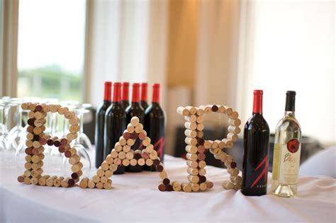 DIY Wine Cork Wedding Decorations   United With Love