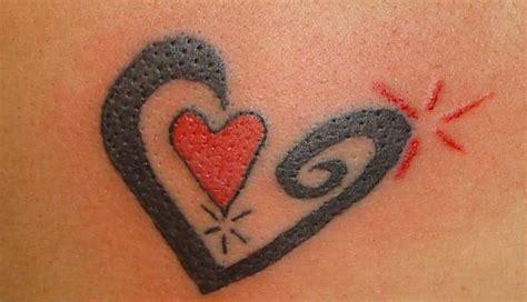 heart tattoos red red love heart in black heart tattoo heart tattoos