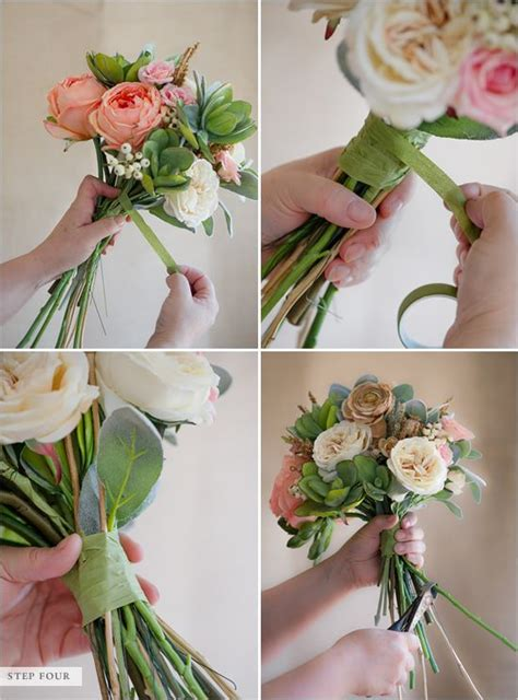 how to make a faux flower bridal bouquet bouquets wedding bouquets diy wedding bouquet