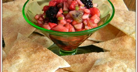 fruit salsa for cookies and more day fruit salsa and