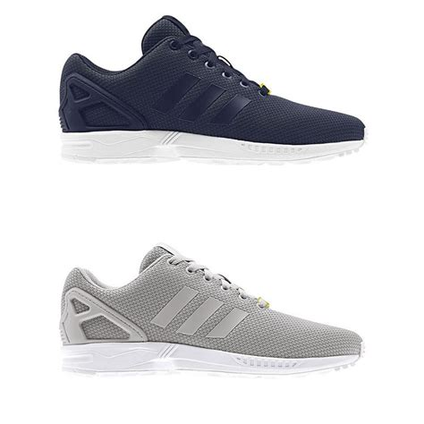 Adidas Zx Flux Torsion Made In Import Greey adidas originals zx flux s trainers in grey and navy