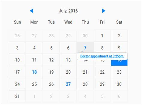 Calendar Js Create A Simple Event Calendar With Javascript Caleandar
