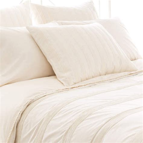 ivory pintuck comforter mod pintuck ivory duvet cover by pine cone hill