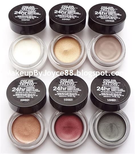maybelline color tattoo cream gel makeupbyjoyce review swatches maybelline color