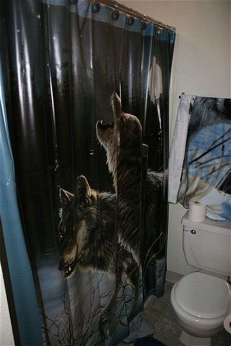 wolf shower curtain wolf shower curtain flickr photo sharing