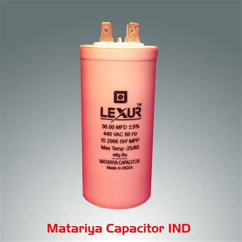 buy ac capacitor india buy 36 mfd 440v ac capacitor from lexur capacitor ind surat india id 491069