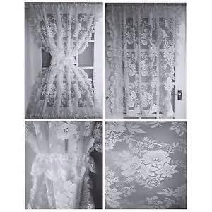 half door window curtains amelia half door lace net curtains window panels tie