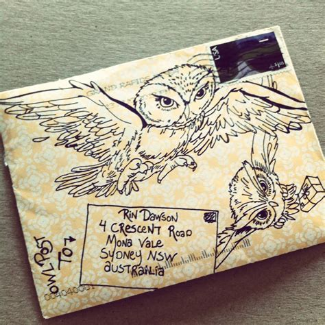 8 Ideas For An Owl You Wedding by A Cool Way To Decorate An Envelope Being Sent To A Harry