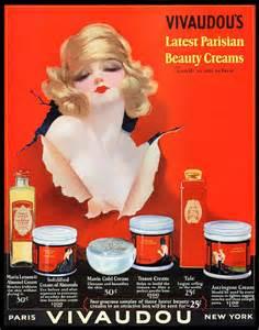 Red Accent Bathroom 1920 S Vintage Beauty Art Nouveau Perfume Poster Woman