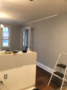 behr paint colors silver bullet painting in the dining room and kitchen are complete we