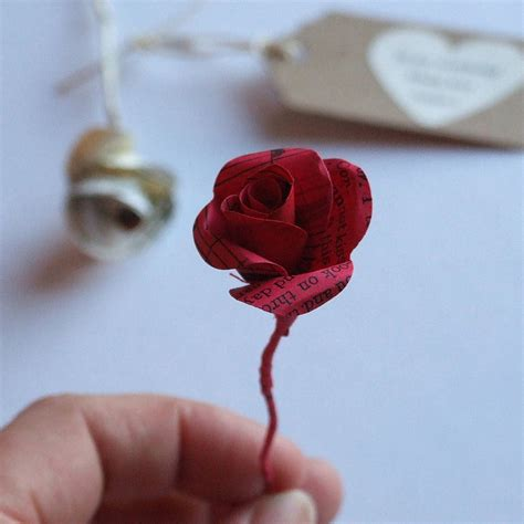Handmade Roses Paper - handmade paper in a glass vial by re made