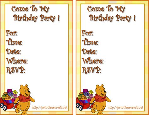 printable birthday invitation cards with photo free printable party invitations card