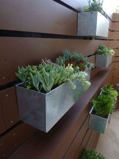 outdoor wall hanging planters hanging metal planter box succulent hanging garden