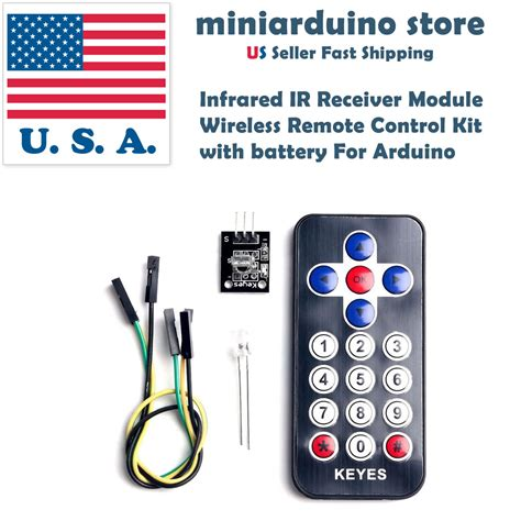 infrared ir receiver module wireless remote kit with battery cr2025 for arduino