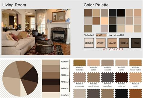 create room color palette earth colors for living rooms modern house
