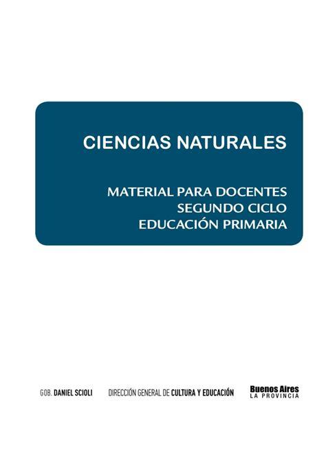 material para el docente ciencias naturales material para docentes segundo ciclo
